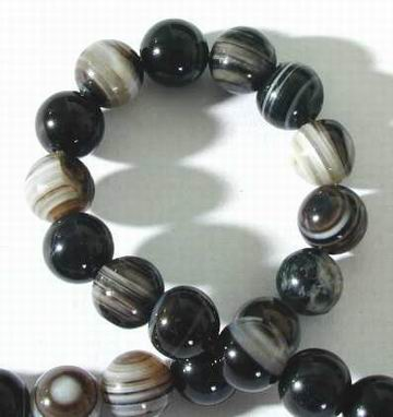 Beautiful Saturn-Stripped 8mm Agate Bead