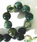 Beautiful Mint Moss Agate Beads 4mm or 8mm
