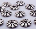 50 Silver 9-Petal Bead Spacers - 925