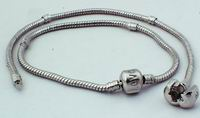 2 Flexable Blank Charm Bracelets - for Troll Beads