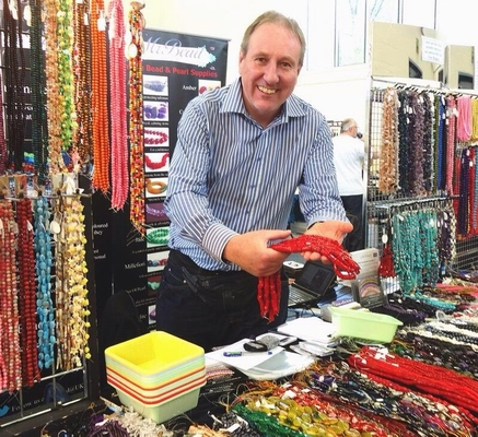 Nigel at a Bead Fair