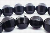 Gleaming Black Onyx Pumpkin Beads