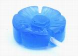 6 Carved Blue Chalcedony Flower Beads