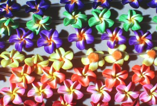 Plastic Flower Beads