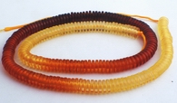 225 Gradualted Amber Disc Heishi Beads