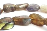 28 Mystical Labradorite Nugget Beads