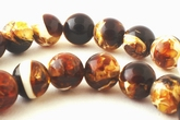 Chocolate Antique Amber Beads