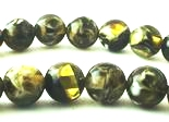 Versatile Worldly Avocado-Green Amber 8mm Beads