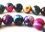 Large Shiny 10mm Summer Picasso Agate Beads