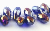 50 Sparkling AB Royal Purple Baby Teardrop Beads - Top-Drill