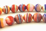 Striking Rainbow Calsilica Beads - 4mm or 6mm