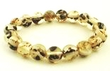 Distinctive White Amber Bead Bracelet