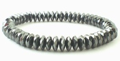 Super-Slick Shiny Faceted Diamond Hematite Bracelet
